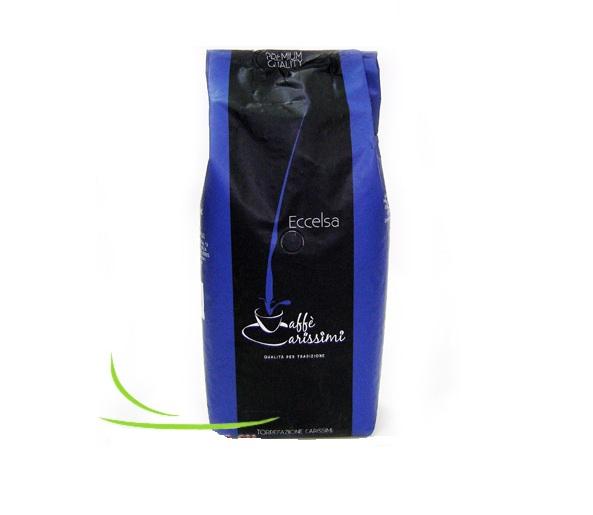 Кофе в зернах Caffe Carissimi Eccelsa 1 кгКофе, какао<br><br><br>Тип: кофе в зернах<br>Дополнительно: мягкий, богатый аромат с полным и насыщенным вкусом. 80% Арабика, 20% Робуста.