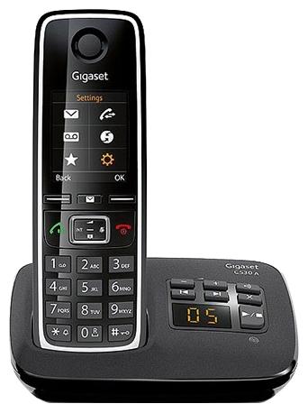Радиотелефон Gigaset C530 AРадиотелефон Dect<br>Почему Gigaset c530 a — правильный выбор?<br>Выбирая радиотелефон, нужно учитывать множество различных важных факторов. Среди них не только качество самого аппарата, но также наличие разных функций и возможностей, надежность устройства и, конечно, его дизайн. Который должен быть не только красивым, стильным и современным, но и эргономичным, это значит, что вам должно быть комфортно пользоваться таким телефоном. Так много всего нужно учесть! Как же не ошибиться с выбором и купить именно то, что нужно?<br>Очень легко! Радиотелефон Gigaset c530 a отвечает всем требованиям,...<br><br>Тип: Радиотелефон<br>Количество трубок: 1<br>Стандарт: DECT/GAP<br>Возможность набора на базе: Нет<br>Проводная трубка на базе : Нет<br>Время работы трубки (режим разг. / режим ожид.): 14/300<br>Дисплей: есть<br>Журнал номеров: 20