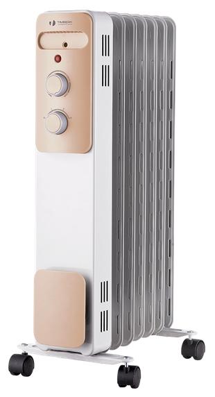 Масляный радиатор Timberk TOR 21.1005 LUXОбогреватели<br><br><br>Тип: масляный радиатор<br>Максимальная мощность обогрева: 1000 Вт<br>Площадь обогрева, кв.м: 12<br>Количество секций: 5<br>Каминный эффект : есть<br>Управление: механическое<br>Регулировка температуры: есть<br>Выключатель со световым индикатором: есть<br>Напольная установка: есть<br>Отделение для шнура : есть