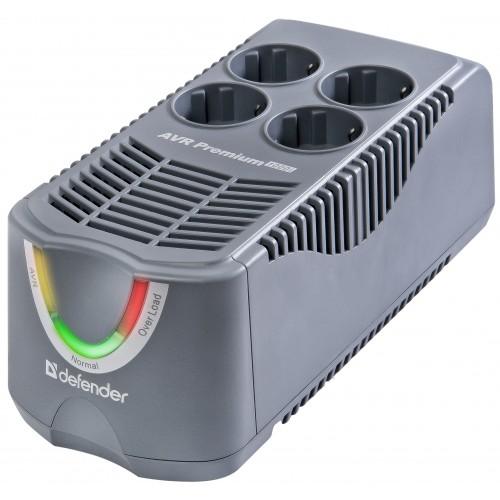 Стабилизатор напряжения Defender AVR Premium 600iСтабилизаторы напряжения<br>Модели серии Premium ориентированы на домашнего пользователя и объединяют в себе два устройства: стабилизатор напряжения и сетевой фильтр. Они предназначены для защиты электропитания бытовой аудио- и видеотехники, компьютеров, периферии и другой электронной аппаратуры от длительного повышения или понижения напряжения в сети, импульсных помех, а также защиты от высокого напряжения.<br>Стабилизаторы автоматически уменьшают повышенное и увеличивают пониженное напряжение до уровня, наиболее подходящего для вашего оборудования. В случае опасного...<br><br>Тип: стабилизатор напряжения<br>Максимальная выходная мощность, Вт: 250<br>Максимальная рассеиваемая энергия: 320 Дж<br>Длина шнура, м: 1