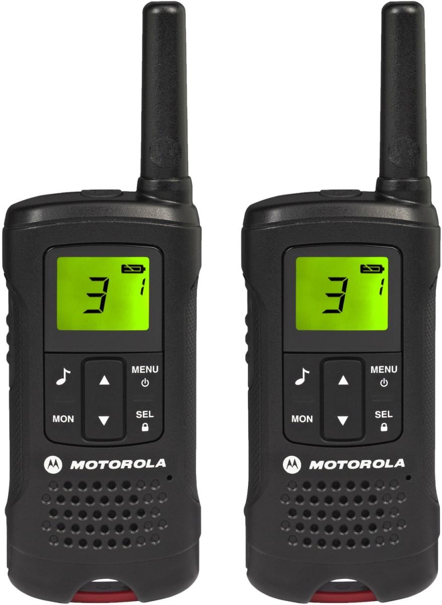 Комплект радиостанций Motorola TLKR-T61Радиостанции<br><br><br>Тип: Комплект радиостанций<br>Стандарт: PMR<br>Диапазон частот: 446-446.1 МГц<br>Мощность передатчика: 0.5 Вт<br>Радиус действия: 8 км<br>Количество каналов: 8<br>Количество элементов питания: 4<br>Вес: 103 г