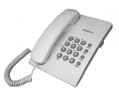 Проводной телефон Rolsen RCT 210Проводные телефоны<br>Телефон Rolsen RCT-210 обладает неплохой функциональностью: регулировкой громкости звонка, наличием двух режимов набора номера &amp;#40;импульсный и тоновый&amp;#41;, функцией повторного набора и возможностью отключения микрофона. Благодаря функции Flash можно, удерживая на линии одного абонента, установить соединение с другим, а также переключить разговор на другую линию. Конструкция корпуса аппарата позволяет закрепить его вертикально на стене.<br>