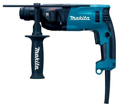 Перфоратор Makita HR1830Перфораторы<br><br><br>Тип крепления бура: SDS-Plus<br>Потребляемая мощность: 440 Вт<br>Макс. энергия удара: 1.2 Дж<br>Макс. диаметр сверления (дерево): 24 мм<br>Макс. диаметр сверления (металл): 13 мм<br>Макс. диаметр сверления (бетон): 18 мм<br>Питание: от сети<br>Возможности: реверс, предохранительная муфта