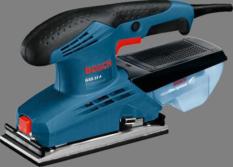 Вибрационная шлифмашина Bosch GSS 23 A [0601070400]Шлифовальные и заточные машины<br><br><br>Размер хода платформы, мм: 2<br>Длина листа/ленты, мм: 230<br>Ширина листа/ленты, мм: 93