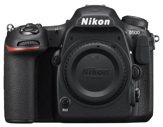 Зеркальный фотоаппарат Nikon D500 BodyЦифровые зеркальные фотоаппараты<br><br><br>Тип: Цифровая зеркальная фотокамера<br>Носители информации: SD, SDHC, SDXC<br>Видеорежим: есть<br>Звук в видеоклипе: есть<br>Вспышка: есть<br>Кроп фактор: 1.5<br>Тип матрицы: CMOS<br>Размер матрицы: APS-C (23.5 x 15.7 мм)<br>Число эффективных пикселов, Mp: 20.9<br>Чувствительность: 50 - 3200 ISO, Auto ISO