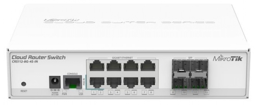Коммутатор MikroTik Cloud Router Switch CRS112-8G-4S-INМаршрутизаторы и роутеры<br><br>