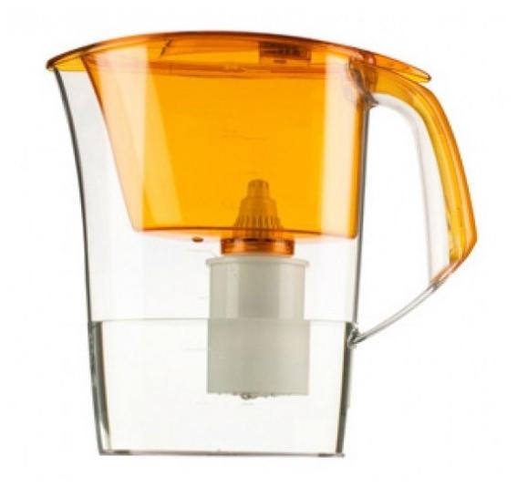 Кувшин Барьер Стайл OrangeФильтры и умягчители для воды<br><br><br>Тип: фильтр-кувшин<br>Тип фильтра: кувшин<br>Подключение к водопроводу: нет<br>Фильтрующий модуль в комплекте: есть<br>Ресурс стандартного фильтрующего модуля: 350 л<br>Помпа для повышения давления: нет