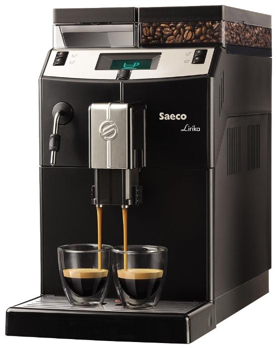 Кофемашина Saeco Lirika BlackКофеварки и кофемашины<br>Saeco Lirika Black сохраняет традиции.<br>Когда такой удивительный напиток, как кофе, только приобретал свою популярность, его распитие превращалось в целую церемонию. Сегодня, конечно, все проще, но классические традиции приготовления кофе сохранились, и их в совершенстве знает кофемашина Saeco Lirika Black. Она готова приготовить специально для вас любой напиток: эспрессо, капучино, макиато, латте, чокотино и многие другие. При этом, следуя всем рецептами и правилам приготовления.<br>Знаете, когда и где можно купить такую кофемашину, которая умеет одновременно...<br><br>Тип : зерновая кофемашина<br>Тип используемого кофе: Зерновой\Молотый<br>Мощность, Вт: 1850<br>Объем, л: 2.5<br>Давление помпы, бар  : 15<br>Материал корпуса  : Пластик<br>Встроенная кофемолка: Есть<br>Емкость контейнера для зерен, г  : 500<br>Одновременное приготовление двух чашек  : Есть<br>Контейнер для отходов  : Есть