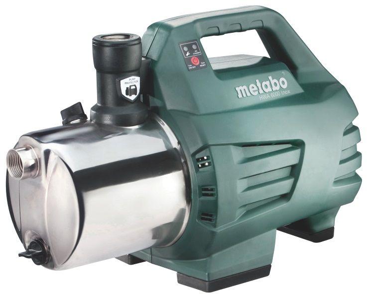Насос Metabo HWA 6000 Inox [600980000]Насосы<br>Комплект поставки:<br>- Автоматический поверхностный насос Metabo HWA 6000 Inox<br>- Уплотнительная лента для резьбы<br>- Обратный клапан<br>- Картонная коробка.<br> <br>Особенности модели:<br>- Долговечное оборудование - Кран подачи воды работает в автоматическом режиме, что снижает нагрузку на двигатель и увеличивает срок его службы.<br>- Удобная транспортировка - Прочная ручка позволяет легко переносить автоматический насос Metabo HWA 3500 Inox.<br>- Автоматика насоса -&amp;nbsp;&amp;nbsp;насос автоматически стартует при открытии крана и отключает его, когда отбор воды из системы прекращается.<br>- Длительный...<br>