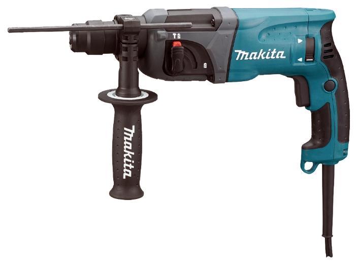 Перфоратор Makita HR2230Перфораторы<br><br><br>Тип крепления бура: SDS-Plus<br>Количество скоростей работы: 1<br>Потребляемая мощность: 710 Вт<br>Макс. энергия удара: 2.2 Дж<br>Макс. диаметр сверления (дерево): 32 мм<br>Макс. диаметр сверления (металл): 13 мм<br>Макс. диаметр сверления (бетон): 22 мм<br>Питание: от сети<br>Шуруповерт: есть<br>Возможности: реверс, предохранительная муфта, электронная регулировка частоты вращения