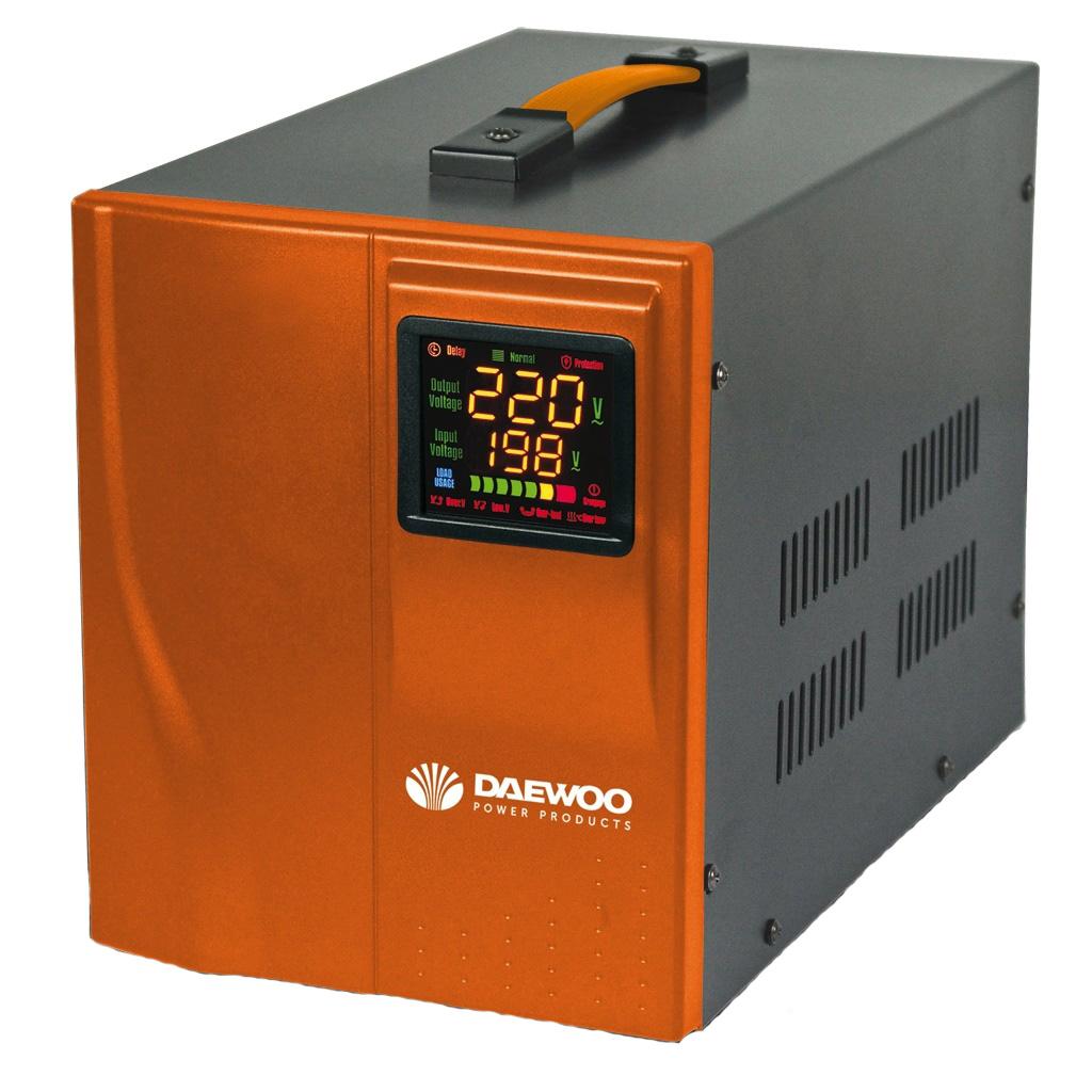 Стабилизатор напряжения Daewoo DW-TZM500VAСтабилизаторы напряжения<br>Автоматический стабилизатор напряжения DW-TZM500VA предназначен для поддержания стабильного однофазного напряжения в пределах 220 В при частоте 50/60 Гц в случаях отклонения сетевого напряжения в широких пределах по значению и длительности. Стабилизатор подходит как для бытового, так и для промышленного применения.<br><br>Стабилизатор может работать в широком диапазоне входного напряжения: от 140 В до 270 В. Возможность постоянного контроля входного и выходного напряжения обеспечена наличием многофункционального цветного дисплея.<br><br>Индикатор нагрузки позволяет...<br><br>Тип: стабилизатор напряжения