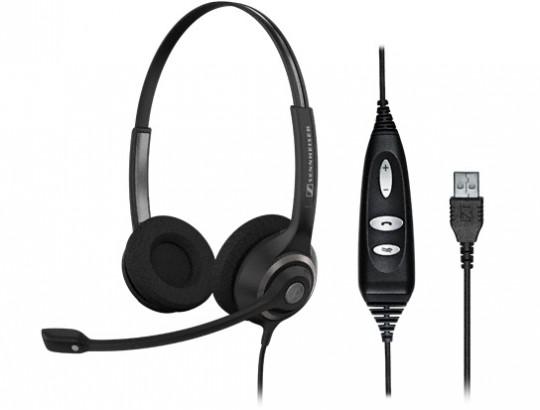 Гарнитура Sennheiser SC 260 USB CTRLНаушники и гарнитуры<br>SC 260 USB CTRL &amp;mdash; биноауральная широкополосная гарнитура, разработанная для профессионального применения в call-центрах и офисах.<br><br>Надёжная и прочная конструкция SC 260 USB CTRL основана на патентованной технологии Circleflex &amp;trade;: простая подгонка наушника с шумокомпенсирующим микрофоном с помощью двойного оголовья с пронумерованными позициями. Интегрированный в кабель пульт управления запросами расширяет функциональные возможности<br><br><br>  <br><br><br>Возможности управления<br><br><br>  <br><br><br>— Ответ/Окончание разговора<br><br>— Регулировка громкости<br><br>— Отключение микрофона...<br><br>Тип: гарнитура<br>Вид наушников: Накладные<br>Тип подключения: Проводные<br>Диапазон воспроизводимых частот, Гц: 150 — 6800<br>Сопротивление, Импеданс: 180 Ом<br>Чувствительность дБ: 104<br>Микрофон: есть<br>Частотный диапазон микрофона, Гц: 150 — 6800