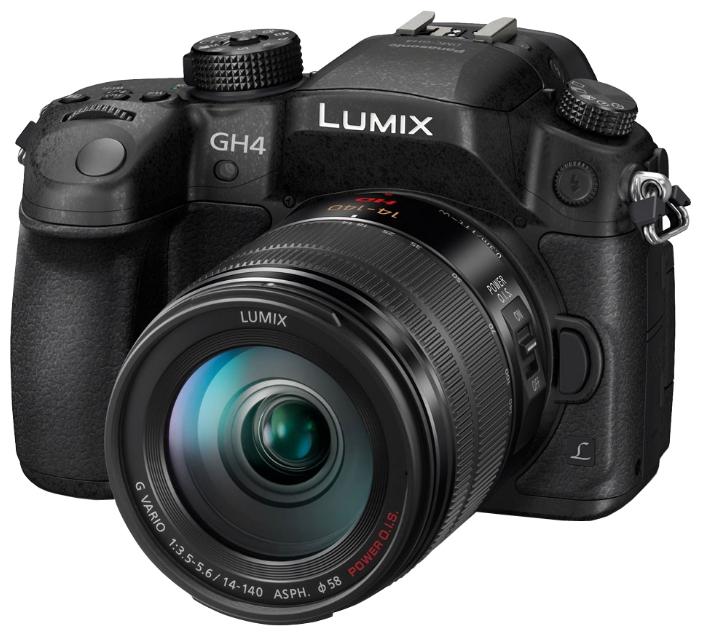 Зеркальный фотоаппарат Panasonic DMC-GH4EE-KЦифровые зеркальные фотоаппараты<br><br><br>Тип: Цифровая зеркальная фотокамера<br>Стабилизатор изображения: нет<br>Носители информации: SD, SDHC, SDXC<br>Видеорежим: есть<br>Звук в видеоклипе: есть<br>Вспышка: есть<br>Кроп фактор: 2<br>Размер матрицы: Live MOS<br>Число эффективных пикселов, Mp: 16.05 млн<br>Чувствительность: 100 - 3200 ISO, Auto ISO