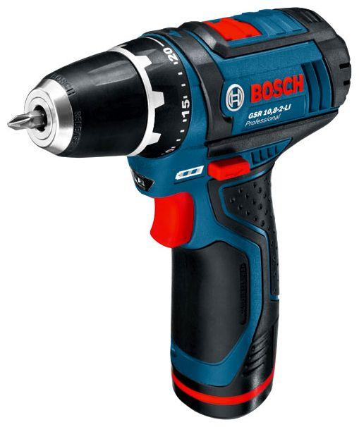 Дрель-шуруповерт Bosch GSR 10,8-2-LI 0 (без аккумулятора и зарядного устройства) [0601868101]Дрели, шуруповерты, гайковерты<br><br><br>Тип: дрель-шуруповерт<br>Тип инструмента: безударный<br>Тип патрона: быстрозажимной<br>Количество скоростей работы: 2<br>Питание: от аккумулятора<br>Тормоз двигателя: есть<br>Возможности: реверс, электронная регулировка частоты вращения<br>Съемный аккумулятор: есть<br>Дополнительный аккумулятор: есть<br>Описание: система защиты аккумулятора от перегрузки, перегрева и глубокого разряда
