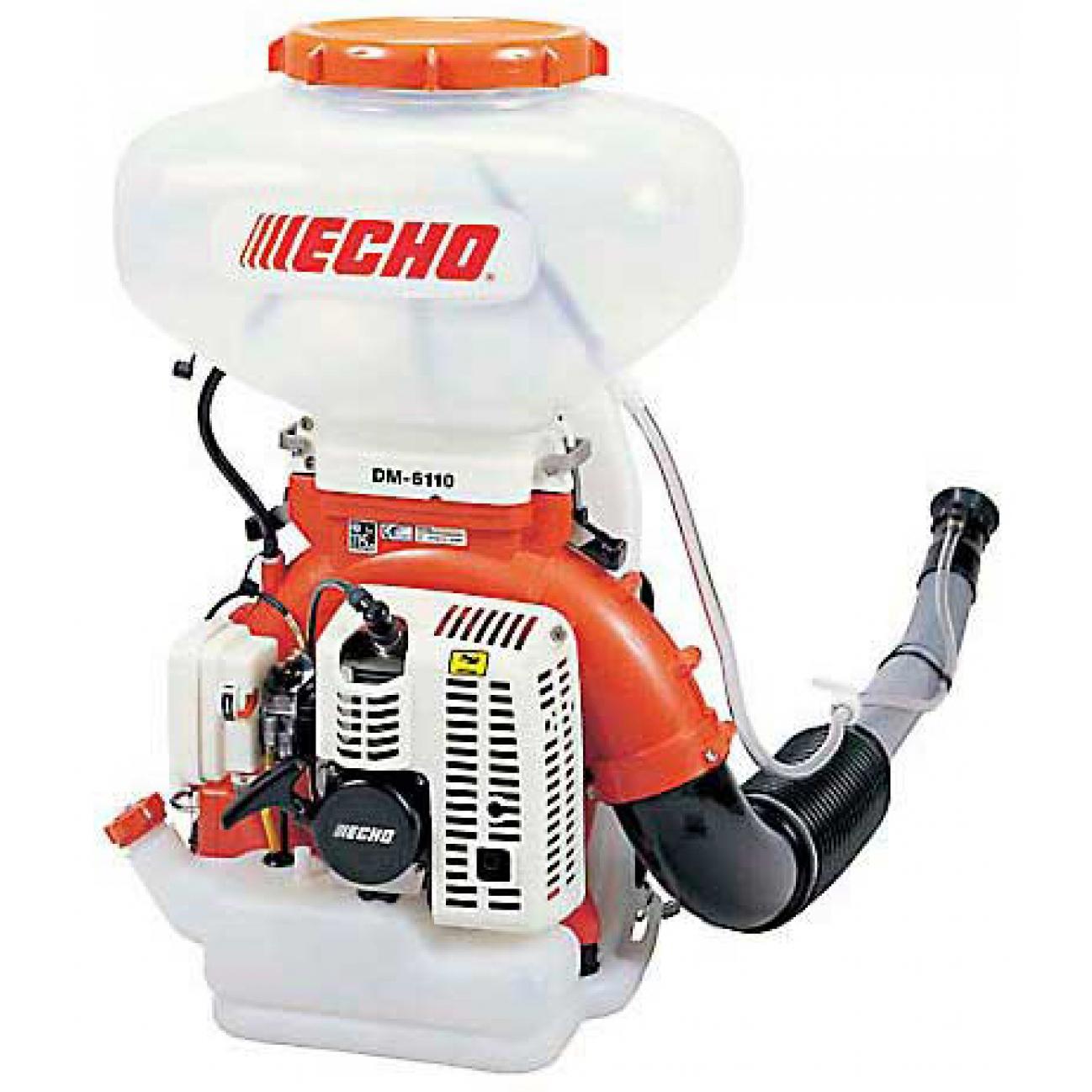 Опрыскиватель ECHO DM-6110Садовые опрыскиватели<br><br><br>Тип: опрыскиватель<br>Тип двигателя: бензиновый<br>Объем двигателя, см3: 58.2<br>Объем бака: 13 л