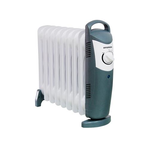 Масляный радиатор Hyundai H-HO1-09-UI889Обогреватели<br><br><br>Тип: масляный радиатор<br>Максимальная мощность обогрева: 1000 Вт<br>Площадь обогрева, кв.м: 12<br>Количество секций: 9<br>Управление: механическое<br>Регулировка температуры: есть<br>Термостат: есть<br>Выключатель со световым индикатором: есть<br>Ручка для перемещения: есть<br>Напряжение: 220/230 В