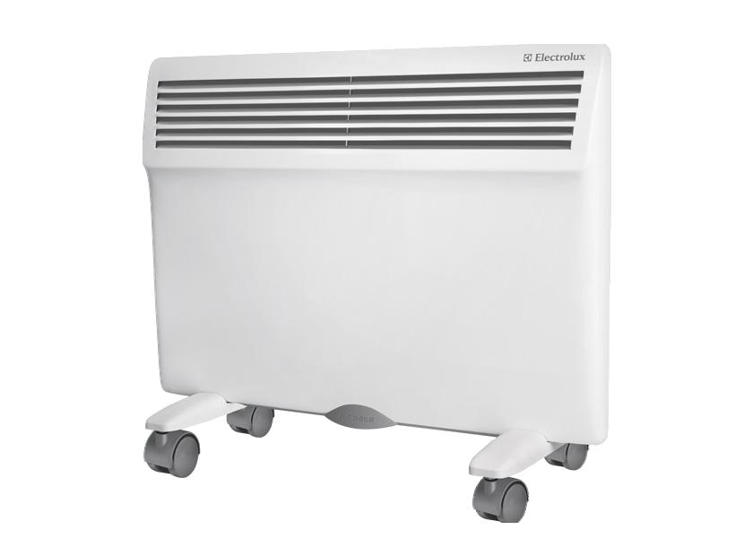 Конвектор Electrolux ECH/AG-1500 MFRОбогреватели<br>Классический качественный обогреватель конвективного типа по более чем привлекательной цене. Именно так, одним предложением, можно описать обогреватель Electrolux ECH/AG – 1500 MF. Два режима мощности, современная система очистки воздуха, защита от влаги — этот обогреватель, пожалуй, наилучшее сочетание цены и качества. Возможность настенной и напольной установки значительно облегчит вам выбор места, где будет находиться конвектор. Простые формы и высокая функциональность — два основных критерия современной техники, и обогреватель Electrolux ECH/AG – 150...<br><br>Тип: конвектор<br>Серия: Air Gate<br>Максимальная мощность обогрева: 1500<br>Площадь обогрева, кв.м: 20<br>Управление: механическое<br>Термостат: есть<br>Настенный монтаж: есть<br>Напольная установка: есть<br>Колеса для перемещения: есть<br>Габариты: 59.5x40x7.8 см