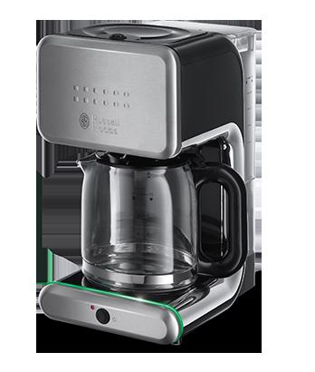 Кофемашина Russell Hobbs 20180-56Кофеварки и кофемашины<br><br><br>Тип используемого кофе: Молотый<br>Мощность, Вт: 1000<br>Объем, л: 1.25<br>Плита автоподогрева: Есть<br>Одновременное приготовление двух чашек  : Нет<br>Съемный лоток для сбора капель  : Нет