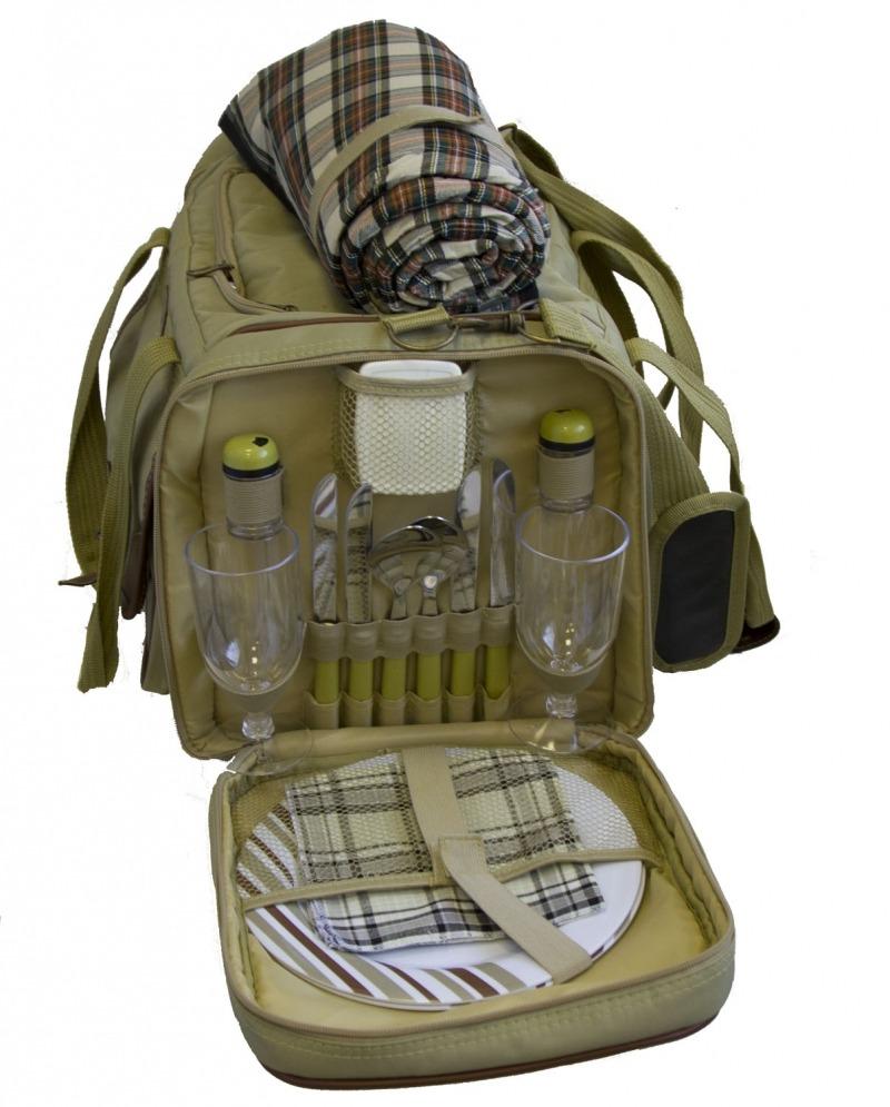 Набор для пикника Green Glade Т3200Наборы для пикника<br>Сумка для пикника с изотермическим отделением на 30 литров и набором посуды на 4 персоны. Набор для пикника Green Glade Т3200 выполнен в форме сумки. Его удобно брать в путешествие, поход или на дачу. Данный набор поможет по-домашнему организовать отдых на природе.<br><br>Сумка-холодильник поможет сохранить свежесть Ваших продуктов до 12 часов при использовании с хладагентом.<br><br>- Изотермическая сумка-холодильник, 30л.; материал-полиэстер.<br>- Ножи, нержавеющая сталь, пластиковые ручки-4шт.<br>- Вилки, нержавеющая сталь, пластиковые ручки-4шт.<br>- Стаканы пластиковые-4шт<br>- ...<br><br>Тип: набор для пикника<br>Количество персон: 4