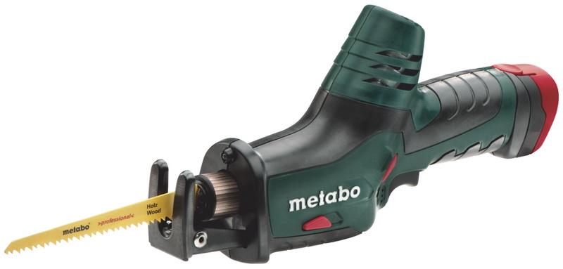 Сабельная пила Metabo ASE 10.8 - 1.5 [602264500]Пилы<br>- Легкая и удобная в работе пила сабельного типа с которой одинаково удобно работать как одной, так и двумя руками.<br>- Благодаря компактным габаритным размерам и хорошо продуманной эргономике, инструментов комфортно работать в узких и труднодоступных местах.<br>- Система быстрой смены пильных полотен Metabo Quick позволит Вам до минимума сократить простои в работе.<br>- Уникальное крепление пильных полотен позволяет Metabo PowerMaxx ASE одинаково эффективно работать как с полотнами для сабельных пила, так и обычными лобзиковыми пилочками. Эта особенность открывает...<br>