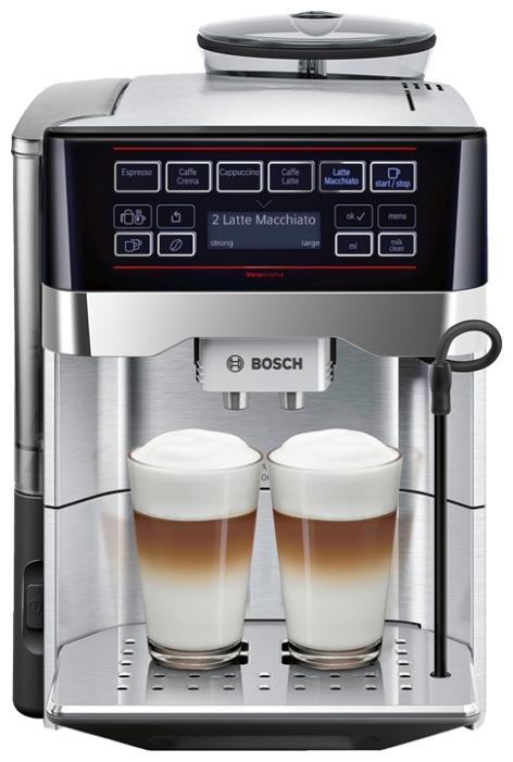 Кофемашина Bosch TES 60729 RWКофеварки и кофемашины<br><br><br>Тип : зерновая кофемашина<br>Тип используемого кофе: Зерновой\Молотый<br>Мощность, Вт: 1500<br>Объем, л: 1.7<br>Давление помпы, бар  : 19<br>Встроенная кофемолка: Есть<br>Емкость контейнера для зерен, г  : 300<br>Одновременное приготовление двух чашек  : Есть<br>Контейнер для отходов  : Есть<br>Съемный лоток для сбора капель  : Есть