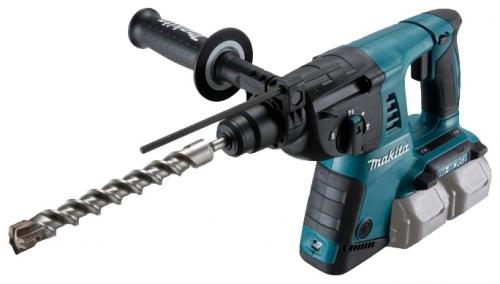 Перфоратор Makita DHR263RF4Перфораторы<br><br><br>Тип крепления бура: SDS-Plus<br>Количество скоростей работы: 1<br>Макс. энергия удара: 2.5 Дж<br>Макс. диаметр сверления (дерево): 32 мм<br>Макс. диаметр сверления (металл): 13 мм<br>Макс. диаметр сверления (бетон): 26 мм<br>Питание: от аккумулятора<br>Шуруповерт: есть<br>Возможности: реверс, предохранительная муфта, антивибрационная система, фиксация шпинделя, электронная регулировка частоты вращения<br>Тип аккумулятора: Li-Ion