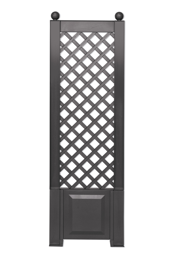 Шпалера KHW 37805 BlackСадовые конструкции<br>Шпалера для растений KHW представляет собой красивую ажурную решетку. Она, выступая опорой для вьющихся растений, выполняет сразу два предназначения: функциональное и декоративное. С помощью шпалеры растения поддерживаются в вертикальном положении, что исключает поломки стебля, что способствует хорошему плодоношению, а также позволяет с помощью шпалеры легко преобразить самые неприглядные участки сада, сделать живую изгородь или украсить веранду. <br><br>Шпалера KHW выполнена из прочного пластика - полипропилена, который не требует особого ухода...<br><br>Тип: шпалера<br>Материал : полипропилен