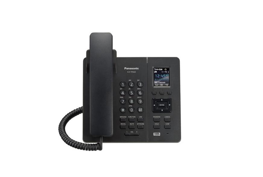 VoIP-телефон Panasonic KX-TPA65RUBSIP-телефоны<br><br><br>Тип: VoIP-телефон<br>Поддержка DECT: есть<br>Подключение гарнитуры: есть<br>Встроенная телефонная книг: 500 контактов<br>Конференц-связь: есть