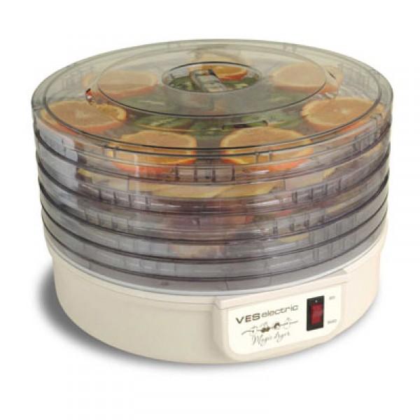 Сушилка для овощей VES VMD 1Домашние помощники<br><br><br>Тип: сушилка для овощей<br>Мощность, Вт.: 300<br>Объем: 5 чаш<br>Цвет: белый
