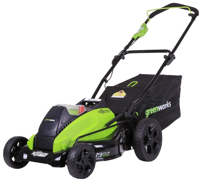 Газонокосилка GreenWorks 2500407 G-MAX 40V 18-Inch DigiPro (GD40LM45)