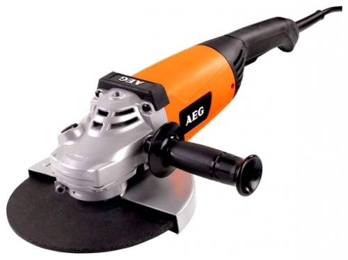 Угловая шлифмашина AEG 428500 WS 2200-230 DMSШлифовальные и заточные машины<br>Угловая шлифмашина AEG WS 2200-230DMS 428500 - это профессиональный электроинструмент с двигателем мощностью 2200 Вт, сконструированный специально для отрезных и шлифовальных работ. Данную модель можно применять для работ не только с металлом, но и с камнем, так как она имеет защиту двигателя от абразивной пыли.<br><br>Описание: защита от случайного включения
