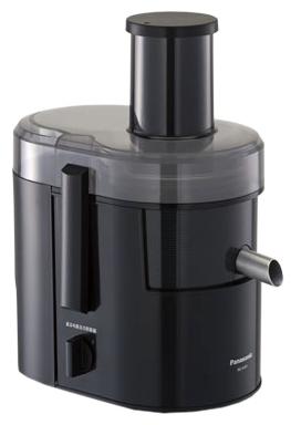 Соковыжималка Panasonic MJ-SJ01KTQСоковыжималки<br><br><br>Тип   : центробежная<br>Мощность, Вт.: 800<br>Резервуар для сока: 1,5 л<br>Система прямой подачи сока: Есть<br>Сбор мякоти: автоматический выброс мякоти, объем резервуара 2 л<br>Сепаратор для пены: Есть<br>Защитные функции: защита от случайного включения<br>Количество скоростей: 2<br>Размер горловины: 75 мм