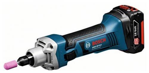 Гравер Bosch GGS 18 V-LI 0 картон (без аккумулятора и зарядного устройства) [06019B5300]Шлифовальные и заточные машины<br>Компактная профессиональная аккумуляторная прямая шлифмашина<br><br>- Исключительно надёжный и устойчивый к нагрузкам 4-полюсный двигатель высокой мощности для долгого срока службы<br>- Самая компактная конструкция для удобства работы даже в труднодоступных местах<br>- Малый вес &amp;#40;всего 1,8 кг&amp;#41; для комфортной и неутомительной работы<br>- Система Electronic Motor Protection &amp;#40;EMP&amp;#41; защищает двигатель от перегрузки и обеспечивает его долгий срок службы<br>- Уникальная литий-ионная технология класса Premium от Bosch: увеличение срока службы на 400?% и исключительная долговечность...<br>