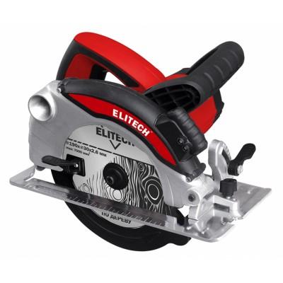 Дисковая пила Elitech ПД 1600ЛПилы<br>Пила дисковая Elitech ПД 1600Л предназначена для быстрого, точного и удобного пропила древесины. Справится со своей работой легко и быстро. Обладает очень серьёзной производительностью в 1200 Вт, и глубиной реза в 65 мм. Станет незаменимым помощником при ремонте дома или на садовом участке. Модель оснащена лазером для удобства распиливания по прямой.<br><br>- эргономичная нескользящая рукоятка <br>- регулируемая глубина пиления 0-65 мм <br>- регулировка угла наклона диска и глубины пиления без специального инструмента <br>- литая металлическая подошва <br>- возможность ...<br><br>Тип: дисковая<br>Конструкция: ручная<br>Мощность, Вт: 1600<br>Функции и возможности: лазерный маркер