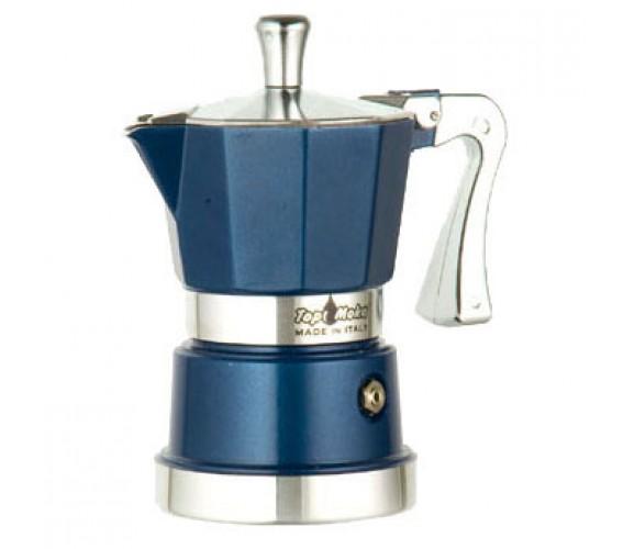 Кофеварка Top Moka Caffettiera Super Top 6 п. BlueКофеварки и кофемашины<br><br><br>Тип : гейзерная кофеварка<br>Объем, л: 0,24<br>Материал корпуса  : Металл