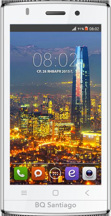 Мобильный телефон BQ BQS-4505 Santiago WhiteМобильные телефоны<br><br>
