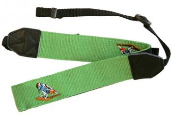 Наплечный ремень универсальный для фотокамерАксессуары для фототехники<br><br><br>Цвет : зеленый<br>Дополнительно: с вышивкой, 39мм, имеет противоскользящее покрытие