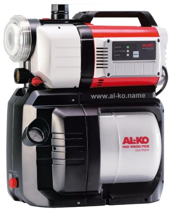 Насос AL-KO HW 4500 FCS ComfortНасосы<br><br><br>Глубина погружения: 8 м<br>Максимальный напор: 50 м<br>Пропускная способность: 4.5 куб. м/час<br>Напряжение сети: 220/230 В<br>Потребляемая мощность: 1300 Вт<br>Качество воды: чистая<br>Установка насоса: горизонтальная