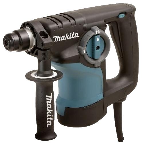 Перфоратор Makita HR2800Перфораторы<br><br><br>Тип крепления бура: SDS-Max<br>Количество скоростей работы: 1<br>Потребляемая мощность: 800 Вт<br>Макс. энергия удара: 2.9 Дж<br>Макс. диаметр сверления (дерево): 32 мм<br>Макс. диаметр сверления (металл): 13 мм<br>Макс. диаметр сверления (бетон): 28 мм<br>Макс. диаметр сверления (полой коронкой): 80 мм<br>Питание: от сети<br>Возможности: реверс, предохранительная муфта, антивибрационная система, фиксация шпинделя, электронная регулировка частоты вращения