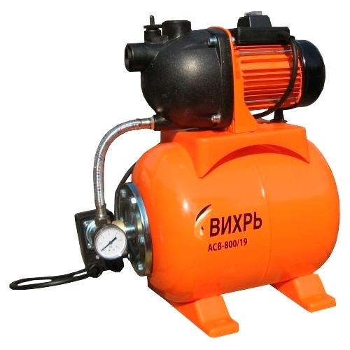 Насос Вихрь АСВ-800/19Насосы<br><br><br>Глубина погружения: 9 м<br>Максимальный напор: 40 м<br>Пропускная способность: 3.6 куб. м/час<br>Напряжение сети: 220/230 В<br>Потребляемая мощность: 800 Вт<br>Качество воды: чистая<br>Установка насоса: горизонтальная