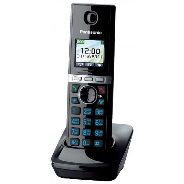 Дополнительная трубка Panasonic KX-TGA806RUBРадиотелефон Dect<br>Дополнительная трубка к радиотелефонам KX-TG8051, KX-TG8061<br><br>Тип: Дополнительная радиотрубка<br>Количество трубок: 1<br>Рабочая частота: 1880-1900 МГц<br>Стандарт: DECT/GAP<br>Время работы трубки (режим разг. / режим ожид.): 13 / 250 ч<br>Полифонические мелодии: 40<br>Дисплей: на трубке (цветной), 2 строки<br>Подсветка кнопок на трубке: Есть<br>Журнал номеров: 50
