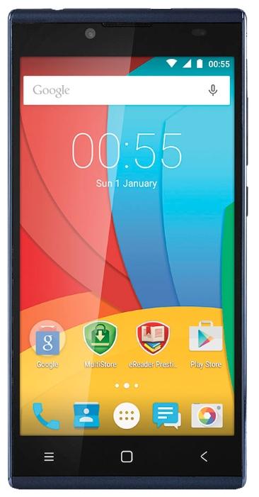 Мобильный телефон Prestigio 5506 Grace Q5 BlueМобильные телефоны<br><br><br>Тип: Смартфон<br>Стандарт: GSM 900/1800/1900, 3G<br>Тип трубки: классический<br>Поддержка двух SIM-карт: есть<br>Операционная система: Android 5.1<br>Встроенная память: 1<br>Фотокамера: 8 млн пикс<br>Форматы проигрывателя: MP3<br>Процессор: Spreadtrum SC7731, 1300 МГц<br>Количество ядер процессора: 4