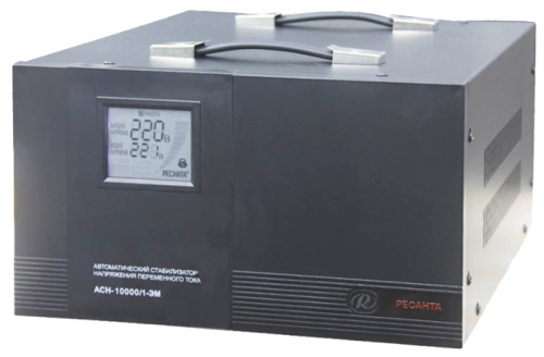 Стабилизатор напряжения Ресанта ACH-10000/1-ЭМСтабилизаторы напряжения<br><br><br>Тип: стабилизатор напряжения