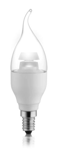 Светодиодная лампа VKlux BK-14B5E1-TСветодиодные лампы<br>Лампа свеча на ветру – это светильник, воспроизводящий по форме мерцающий огонь свечи, колеблющейся на ветру. Колба лампы свеча на ветру выполнена в виде языка пламени, как бы увлекаемого ветром.<br><br>Задумана как изысканный дизайнерский светильник для необычного интерьера. Особенность этой лампы в том, кто колба должна привлекать к себе больше внимания, чем сам плафон лампы, поэтому к лампе свеча на ветру необходимо подбирать прозрачные плафоны, которые не уничтожат дизайн колбы.<br><br>Тип: светодиодная лампа<br>Тип цоколя: E14<br>Рабочее напряжение, В: 220<br>Мощность, Вт: 5<br>Световой поток, Лм: 300<br>Цветовая температура, K: 3000<br>Угол раскрытия, °: 130