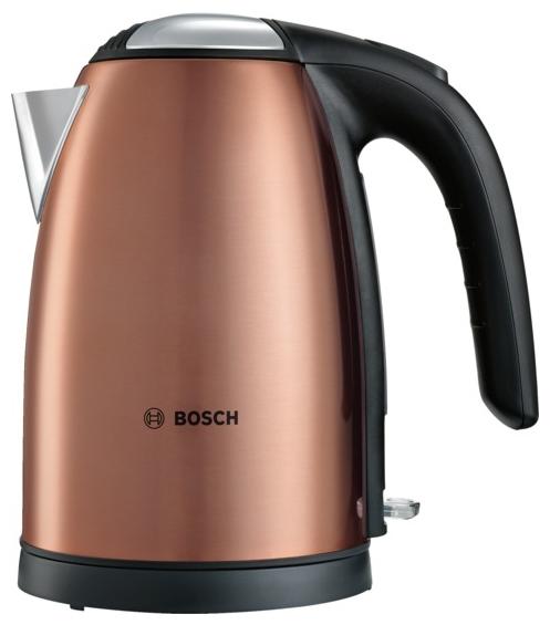 Электрочайник Bosch TWK 7809Чайники и термопоты<br><br><br>Тип   : Электрочайник<br>Объем, л  : 1.7<br>Мощность, Вт  : 2200<br>Тип нагревательного элемента: Закрытая спираль<br>Покрытие нагревательного элемента  : Нержавеющая сталь<br>Материал корпуса  : металл<br>Индикация включения  : Есть<br>Индикатор уровня воды  : Есть<br>Блокировка крышки  : Есть<br>Блокировка включения без воды  : Есть