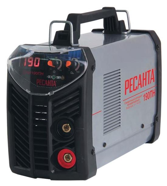 Сварочный аппарат Ресанта САИ-190ПНСварочные аппараты<br><br><br>Тип: сварочный инвертор<br>Сварочный ток (MMA): 10-190 А<br>Напряжение на входе: 140-260 В<br>Количество фаз питания: 1<br>Напряжение холостого хода: 80 В<br>Тип выходного тока: постоянный<br>Мощность, кВт: 5.5<br>Продолжительность включения при максимальном токе: 70 %<br>Диаметр электрода: 5 мм<br>Антиприлипание: есть