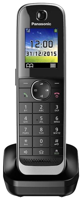 Дополнительная трубка Panasonic KX-TGJA30RUBРадиотелефон Dect<br><br><br>Тип: Дополнительная радиотрубка<br>Рабочая частота: 1880-1900 МГц<br>Стандарт: DECT/GAP<br>Полифонические мелодии: 40<br>Дисплей: на трубке (цветной)<br>Подсветка кнопок на трубке: Есть<br>Возможность настенного крепления: Есть<br>Журнал номеров: 50 номеров<br>Количество аккумуляторов: 2<br>Формат: AAA
