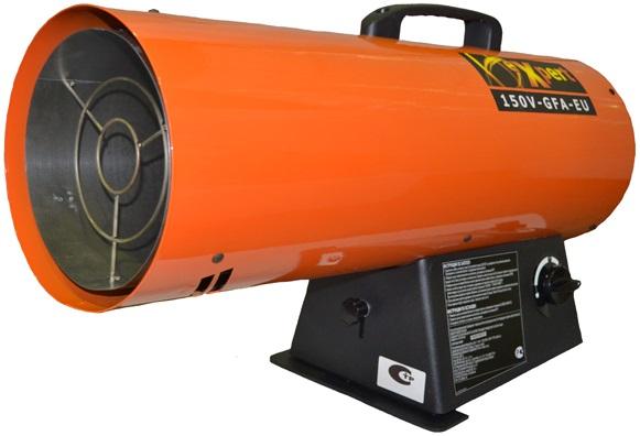 Тепловая пушка газовая Expert 150V-GFA-EUТепловые пушки и завесы<br><br><br>Тип: тепловая пушка газовая<br>Мощность обогрева, Вт: 43900<br>Площадь обогрева, кв.м: 352<br>Напряжение: 220 В<br>Тип топлива: пропан<br>Максимальный расход топлива: 3.1 кг/ч<br>Производительность: 1155 м3/ч<br>Вес: 8 кг