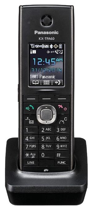 Дополнительная трубка Panasonic KX-TPA60RUBSIP-телефоны<br><br><br>Поддержка SIP: есть<br>Встроенная телефонная книг: есть, 500 контактов<br>Конференц-связь: есть<br>Web-интерфейс: есть
