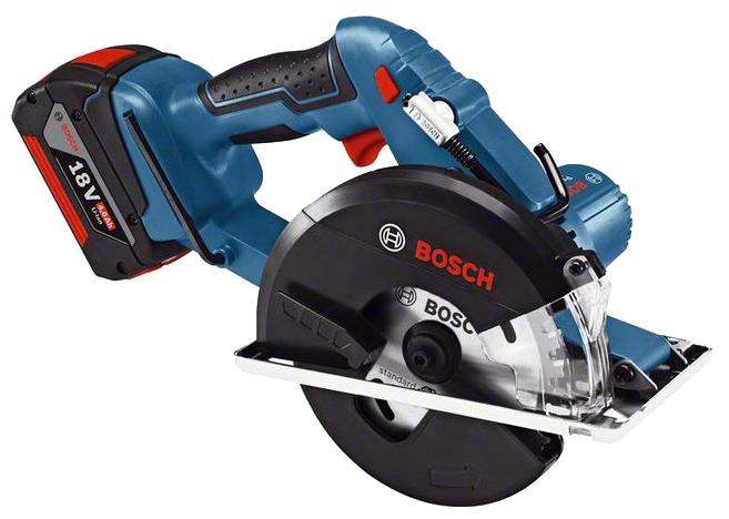 Дисковая пила Bosch GKM 18 V-LI 4.0Ah x2 L-BOXX [06016A4000]